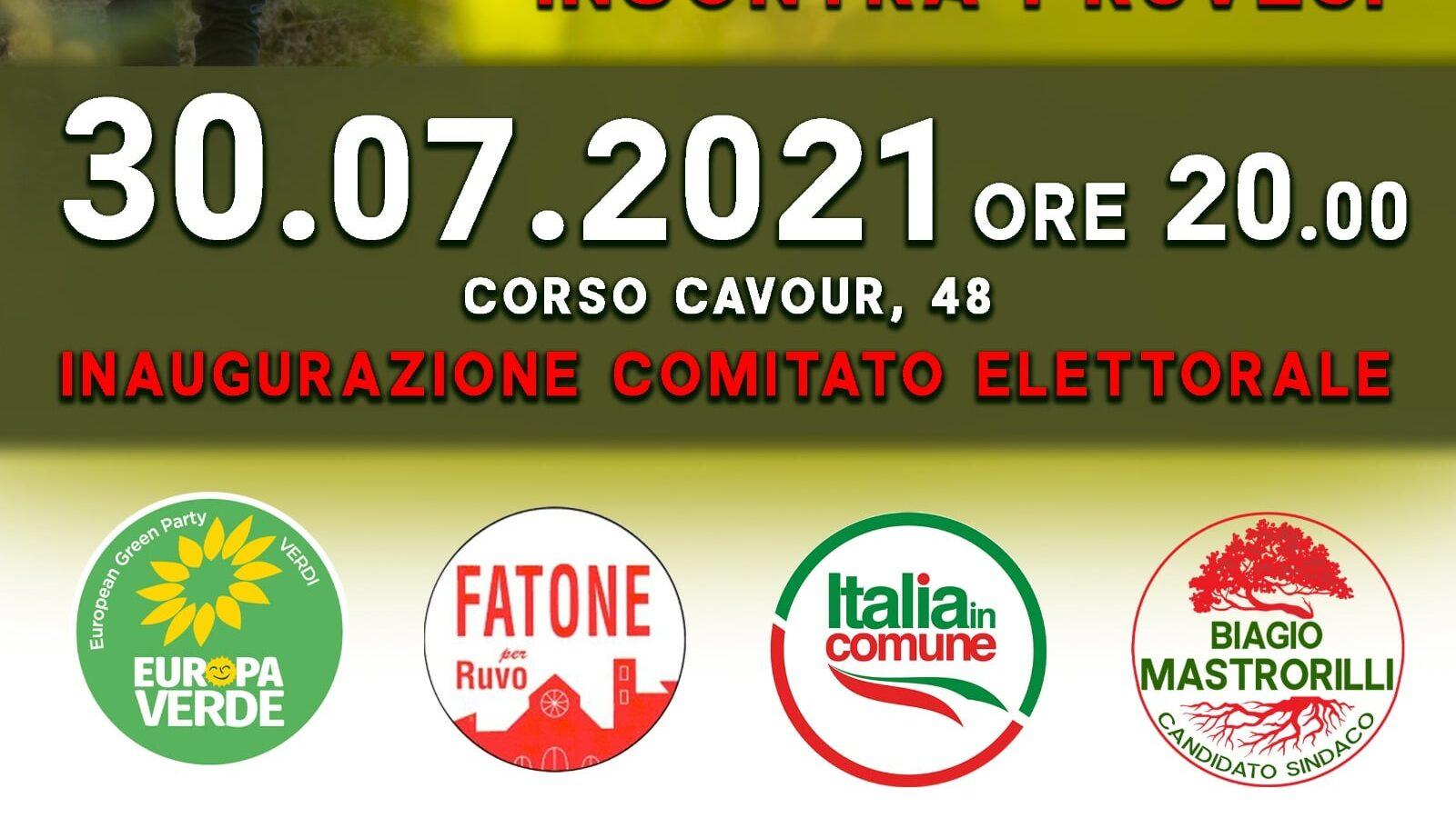 Inaugurazione Comitato Elettorale Biagio Mastrorilli