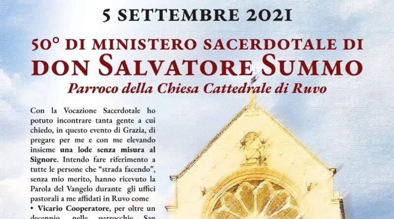Don Salvatore celebra il 50° di sacerdozio