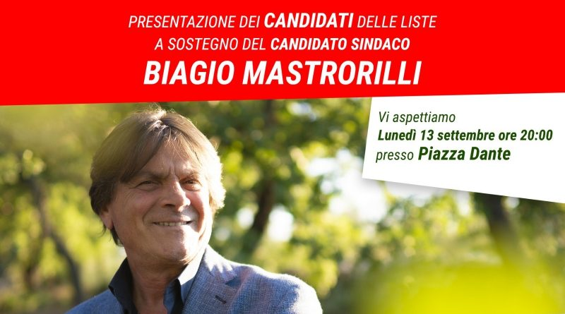 Presentazione candidati a sostegno di Biagio Mastrorilli